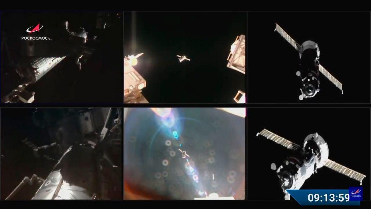 Ruská loď s problémy zakotvila u ISS. Dovezla jídlo, kyslík i těsnění, aby už neunikal vzduch