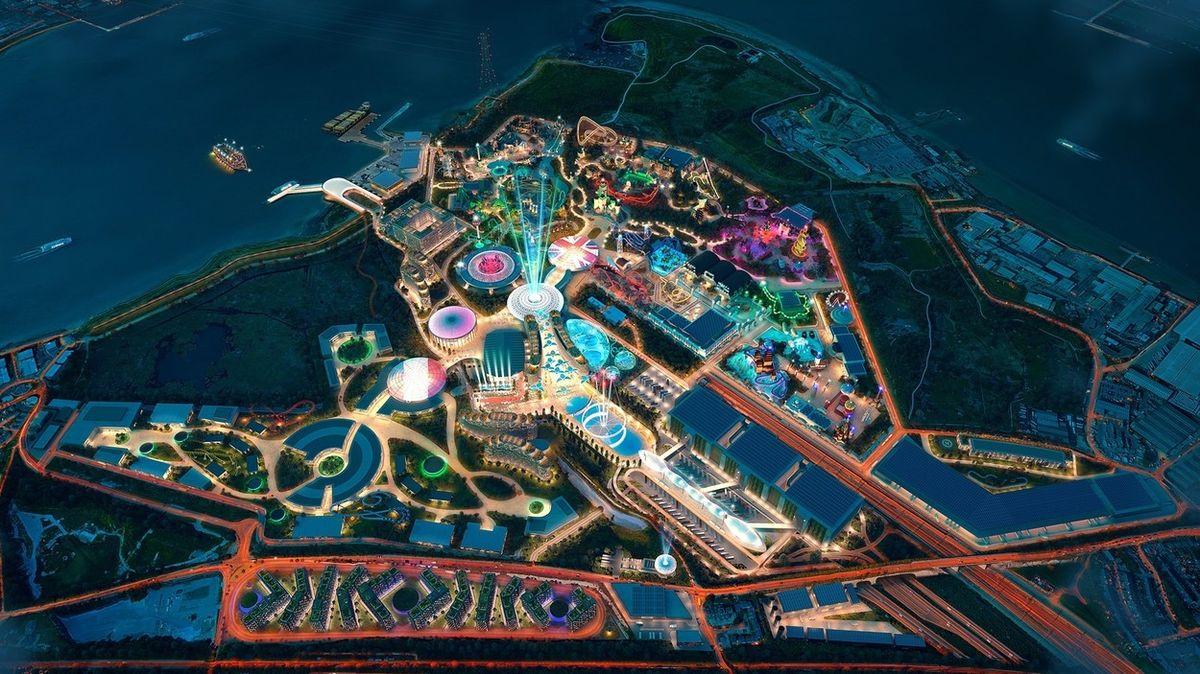Britský Disneyland? Obří zábavní park za Londýnem se ukazuje na snímcích