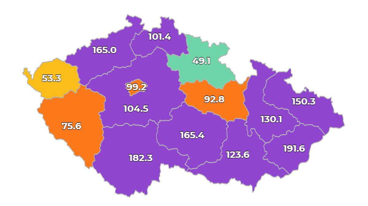 V Česku přibylo 2405 nakažených