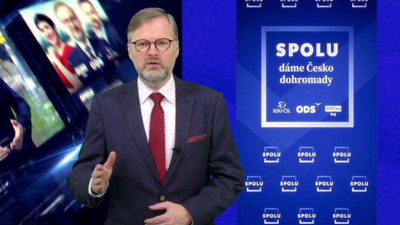 Daně zvyšovat nebudeme, slíbil Fiala při rozjezdu volební kampaně SPOLU