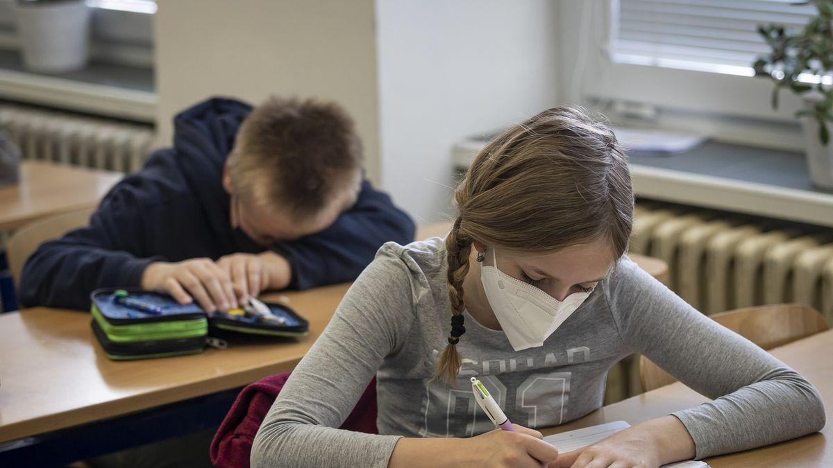 Děti ve škole děsí velké zkoušení