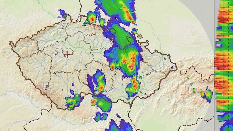 Silné bouřky zasáhly Moravu a část Čech, další se očekávají v noci a ráno