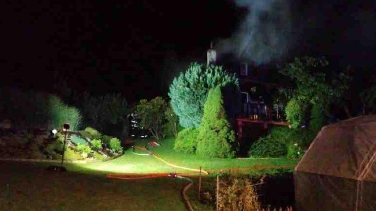 Blesk při bouřce zapálil chatu na Orlickoústecku