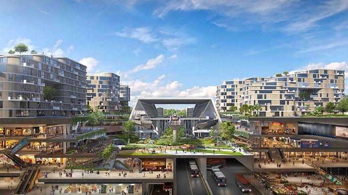 Singapur staví chytré a udržitelné městečko. Nabídne 42 tisíc nových bytů