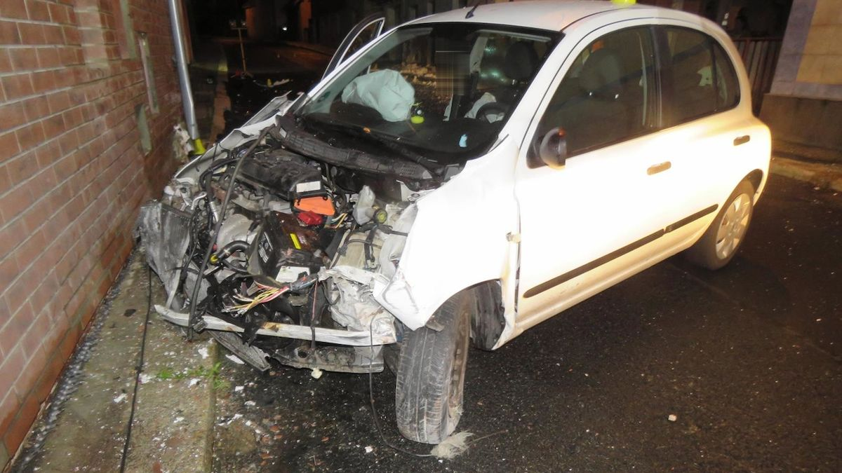Mladá řidička vrazila do dvou domů, strhla totiž volant před zvířetem