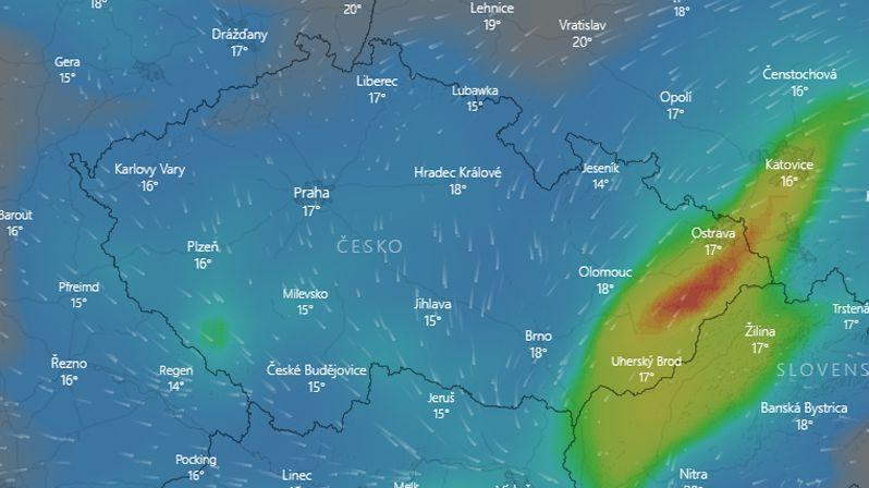 Silné deště zvednou hladiny řek, varovali meteorologové