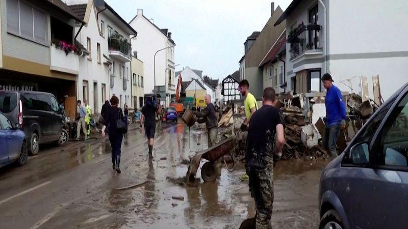 Záplavy v Německu zabily 156 lidí, tragická bilance není u konce