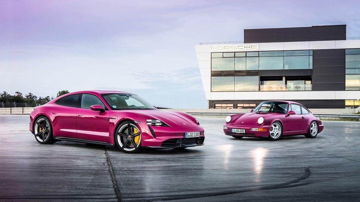 Modernizace Porsche Taycan: Barvy z devadesátých let i rychlejší dobíjení