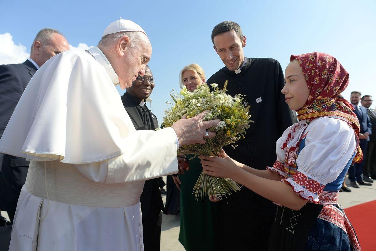 Přivítání papeže Františka v Bratislavě