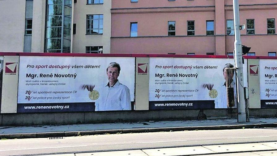 Krasobruslařská hvězda kandidující za ANO na plakátech. Kampaň to prý není