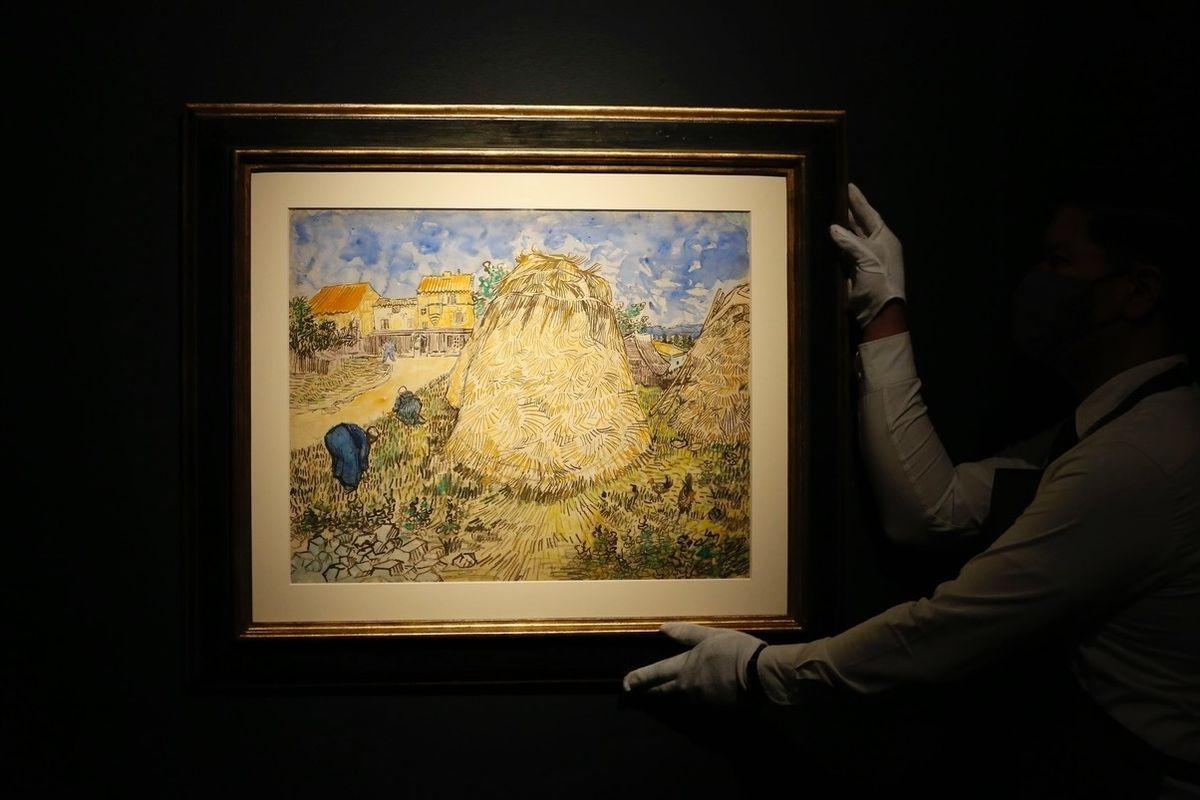Meules de blé od Vinceta Van Gogha