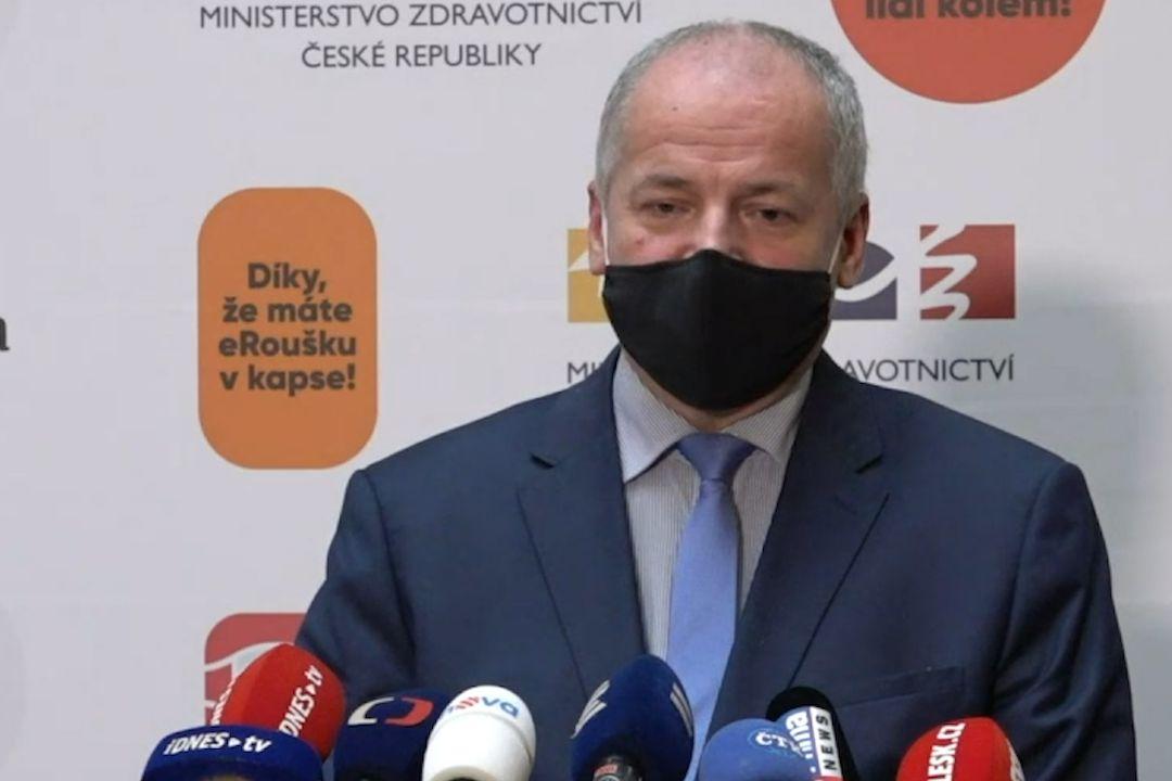 Tiskový brífink ministra zdravotnictví Romana Prymuly