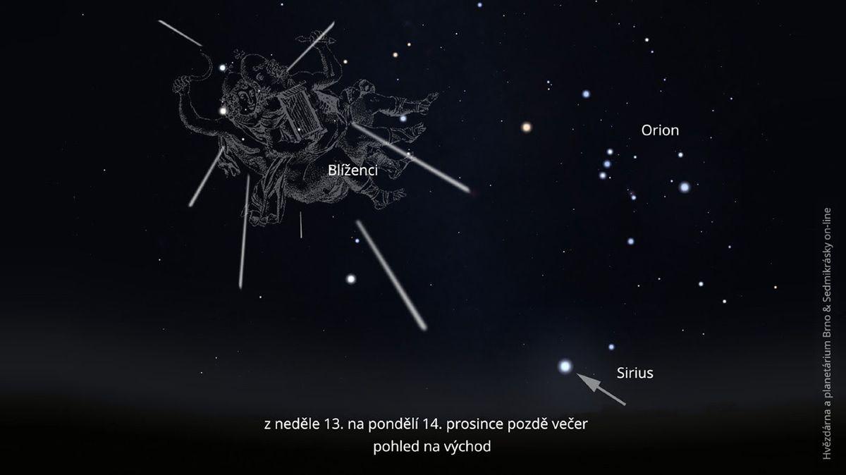 Nebeské představení v noci na pondělí: Geminidy vrcholí jako předvoj Betlémské hvězdy
