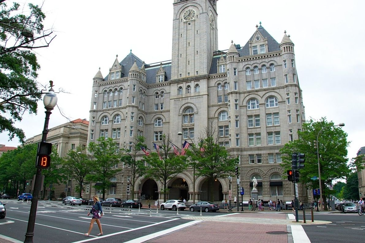 Trumpův hotel na Pennsylvania Avenue ve Washingtonu