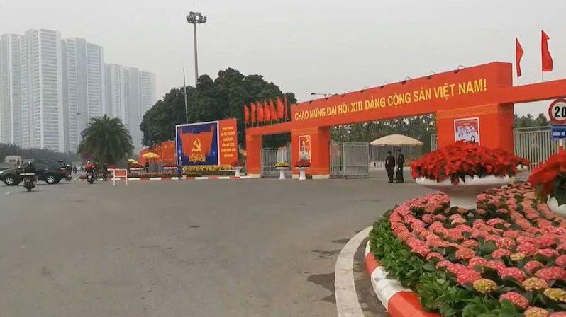 Na stěně Ho Či Min, Marx i Lenin. Sjezd vietnamských komunistů vybere vedení země