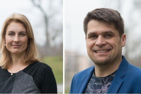Spolupředsedové Strany zelených Magdalena Davis a Michal Berg