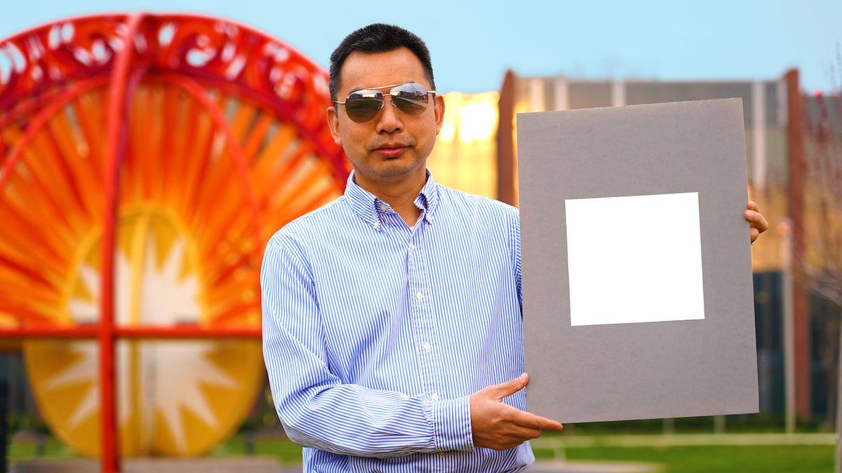 Nátěr v nejbělejším možném odstínu odrazí přes 98 procent světla