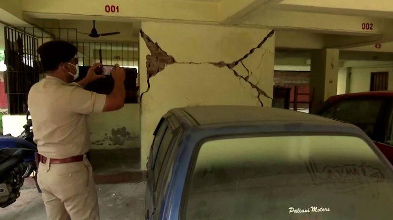 Severovýchodní Indii zasáhlo silné zemětřesení