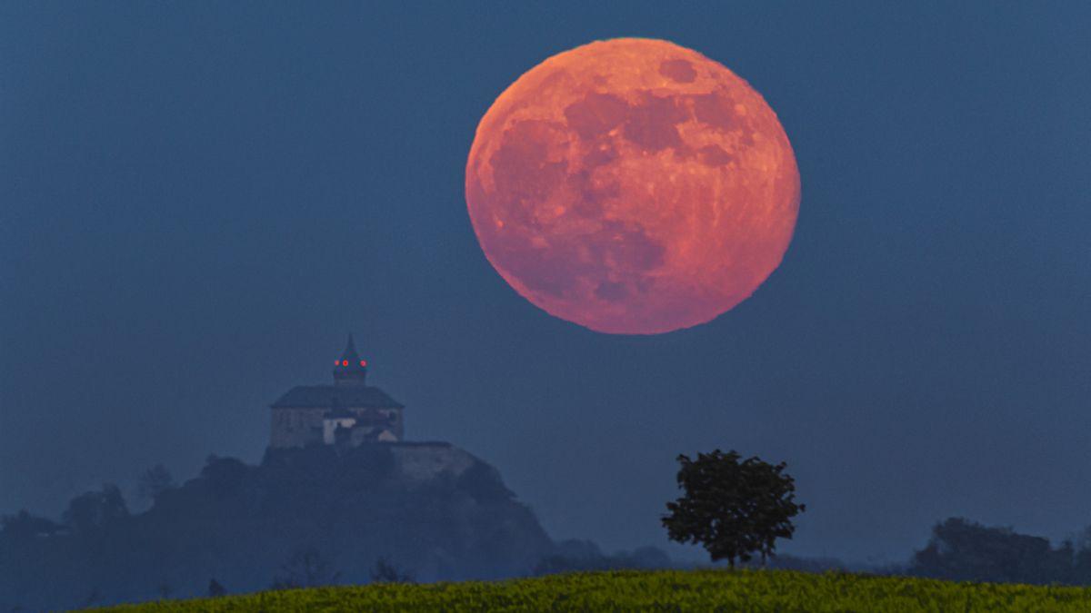 """Středeční obloha nabídne """"květinový superúplněk"""". Ve světě se dočkají i zatmění Měsíce"""