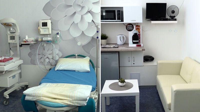Bezpečí nemocnice a přitom pohodlí. Pražská nemocnice otevřela nové porodní pokoje