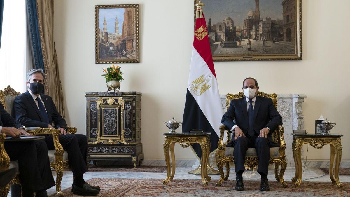 Blinken se setkal se Sísím, chce udržet příměří mezi Izraelem a Gazou