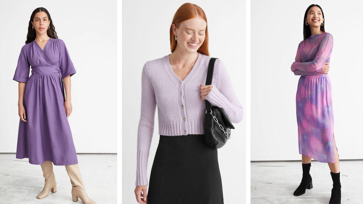 Obohaťte svůj šatník o kousek v lila barvě