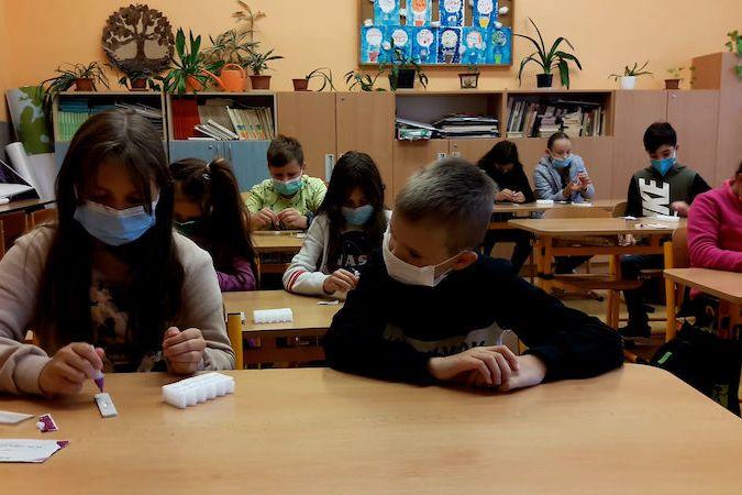 Poslední testování ve třídě 5B ZŠ Komenium v Olomouci