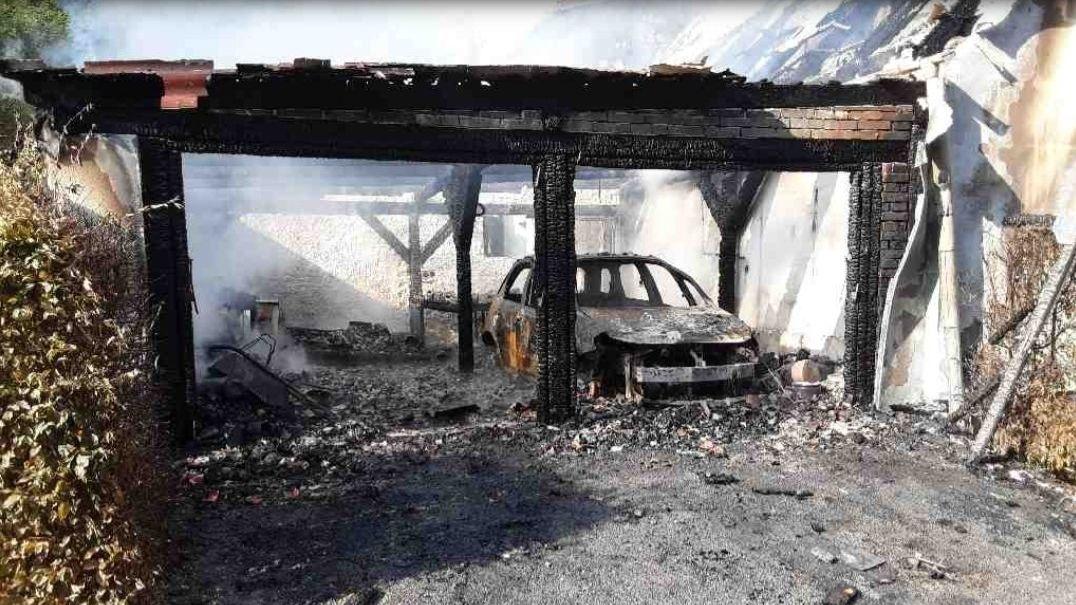 Na Šumpersku hořel rodinný dům, jedna osoba byla zraněna