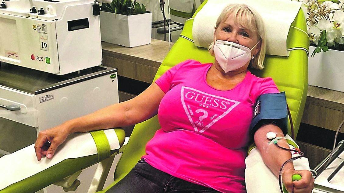 Rekordmanka darovala krevní plazmu už 114krát