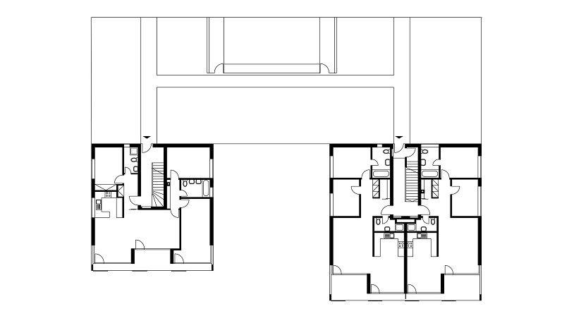 Plánek prozrazuje uspořádání některých interiérů.