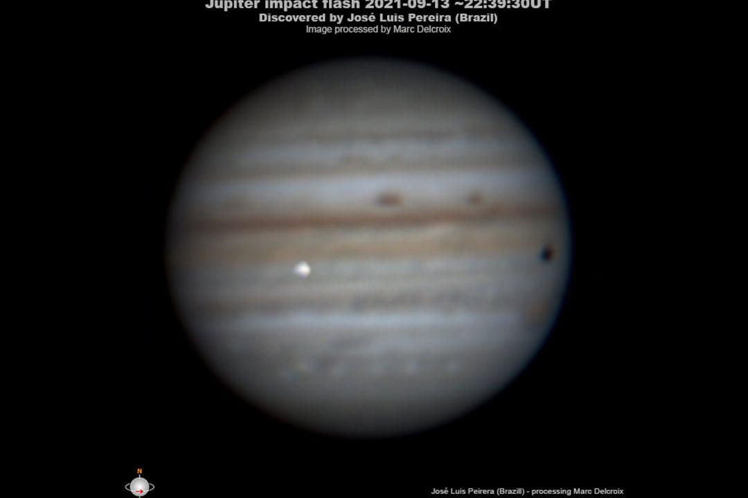 Takto Jupiter zachytil astrofograf z Brazílie.