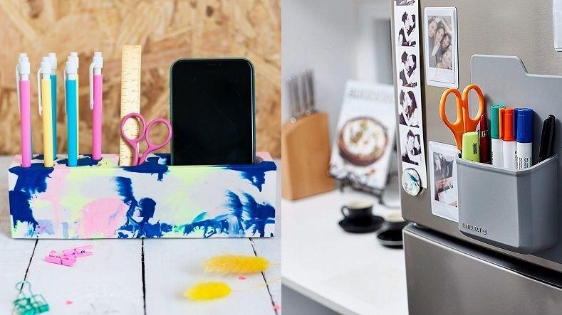 Organizéry hýřící barvami i kousky plné pestrých tužek oživí interiér a zafungují i jako dekorace.
