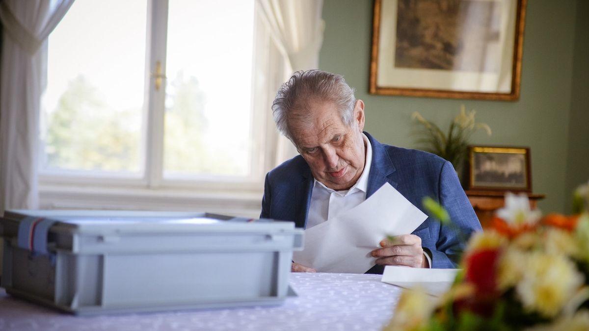 Prezident Miloš Zeman minulý týden v pátek při volbě