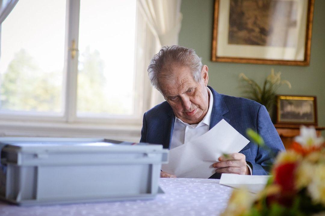 Prezident Miloš Zeman při volbě