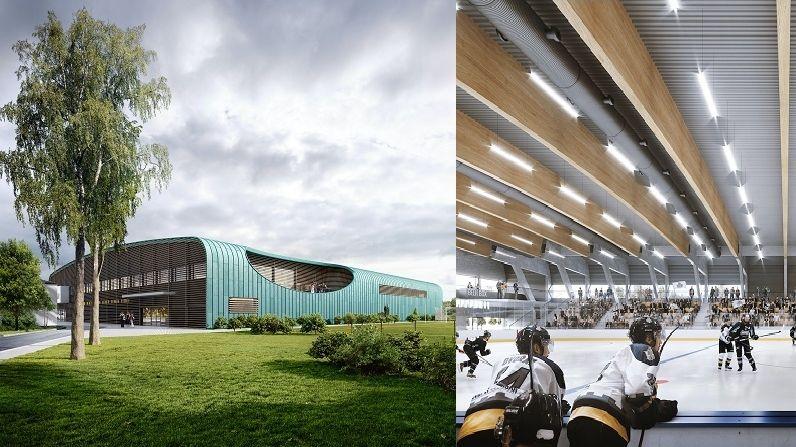 Na navrhování stavby pro město Hluboká nad Vltavou se podíleli i sportovci.