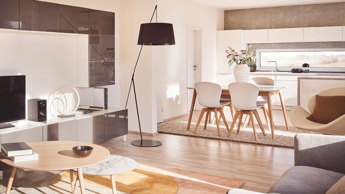 Kuchyň je součástí obývacího pokoje