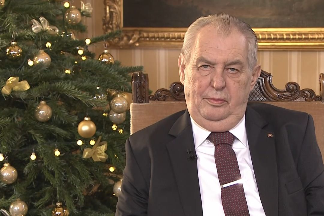 Miloš Zeman vánoční poselství