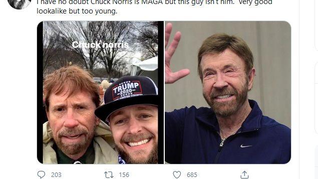 Chuck Norris: Nebyl jsem při tom