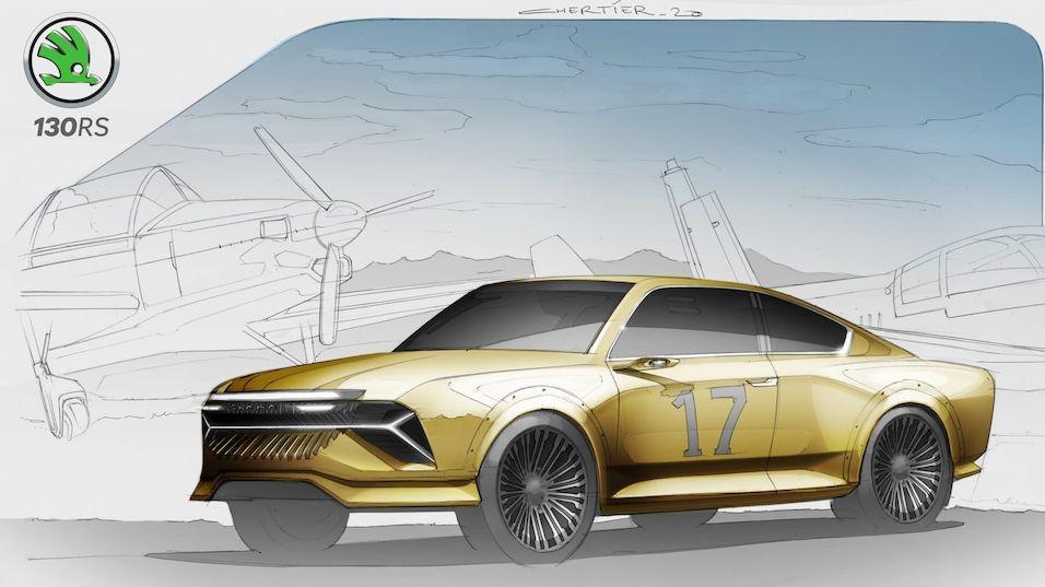 Ikonická Škoda 130 RS ve futuristické představě designéra značky