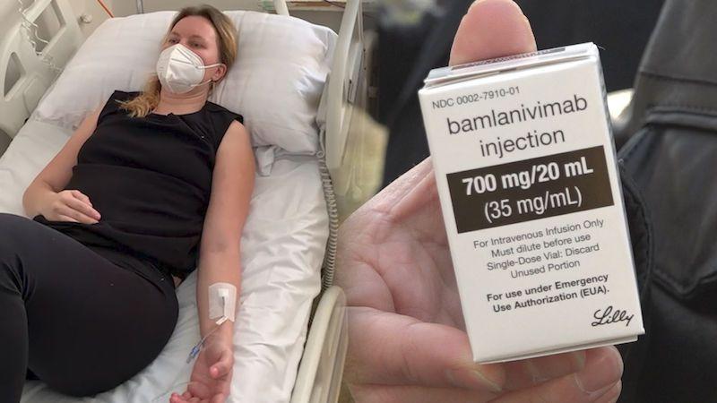 Žena, která jako první v Česku dostala lék bamlanivimab: Větší strach o život jsem nezažila