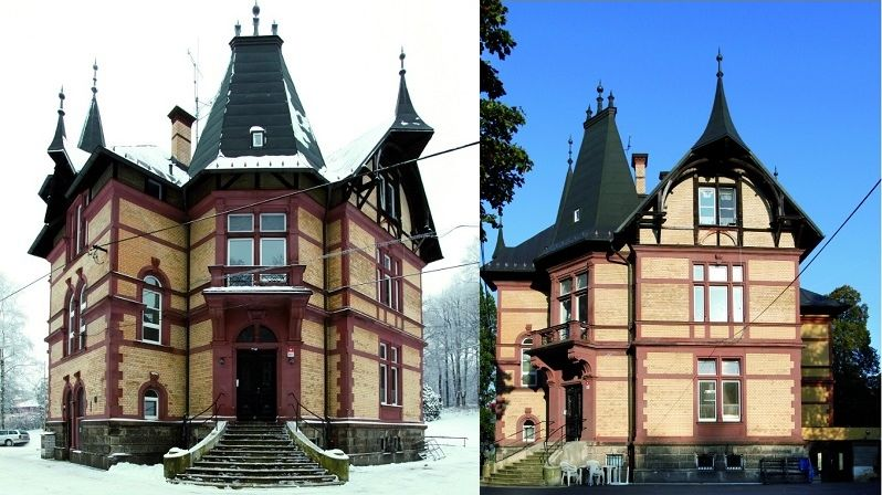 Vila Gustava Fischera mladšího zaujme motivy lidového stavitelství