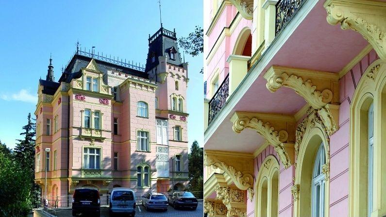 Vila Vyšehrad byla inspirována gotickou architekturou, dnes je z ní sanatorium