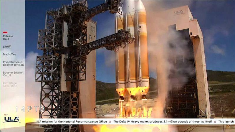 Americká supertěžká raketa vynesla na orbitu špionážní satelit