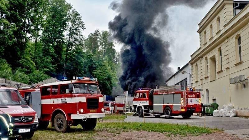 V Broumově hořela kotelna v průmyslovém areálu