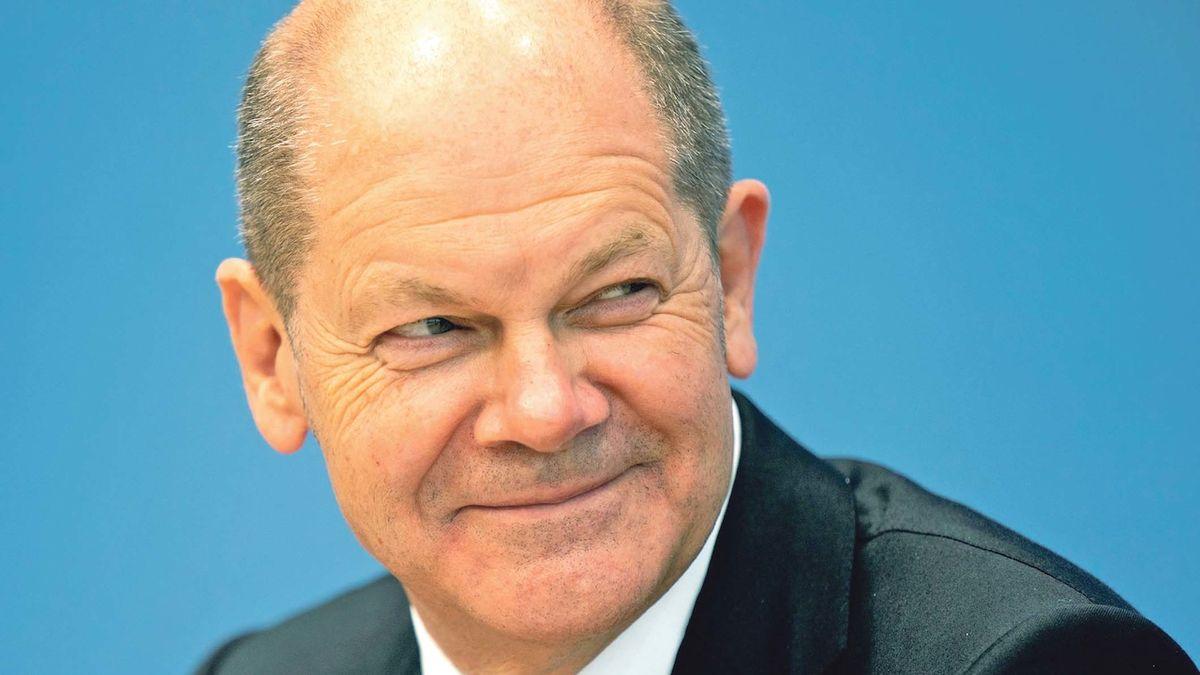 Šéf německé sociální demokracie a kandidát na kancléře Olaf Scholz