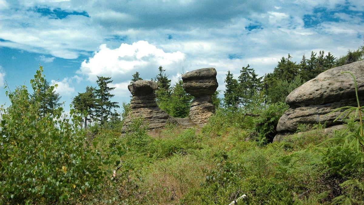 Do Suchého Dolu za kamennými hřiby i na církví neuznané poutní místo