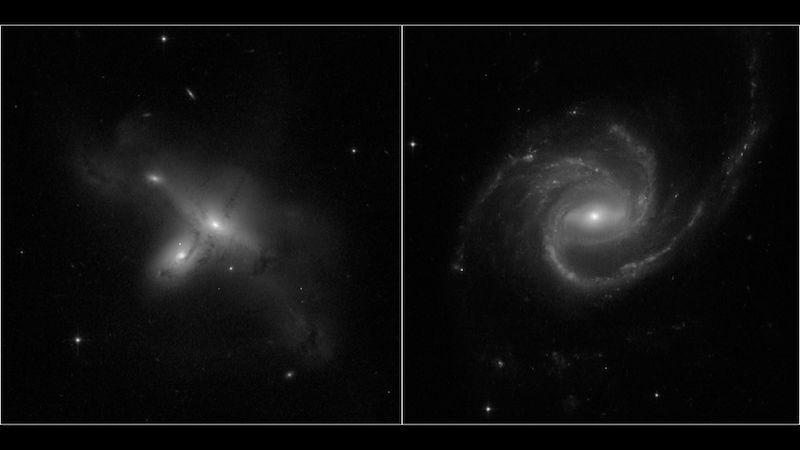 Hubbleův teleskop zpět v akci. Zachytil i tanec galaxií