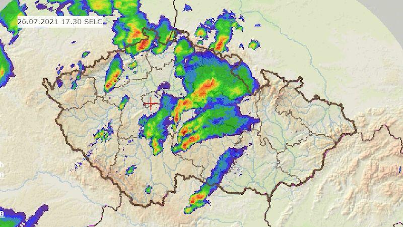 Na severozápadě udeřily silné bouřky