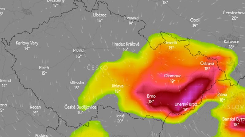 Bouřky a přívalové deště zvednou hladiny řek, varují meteorologové