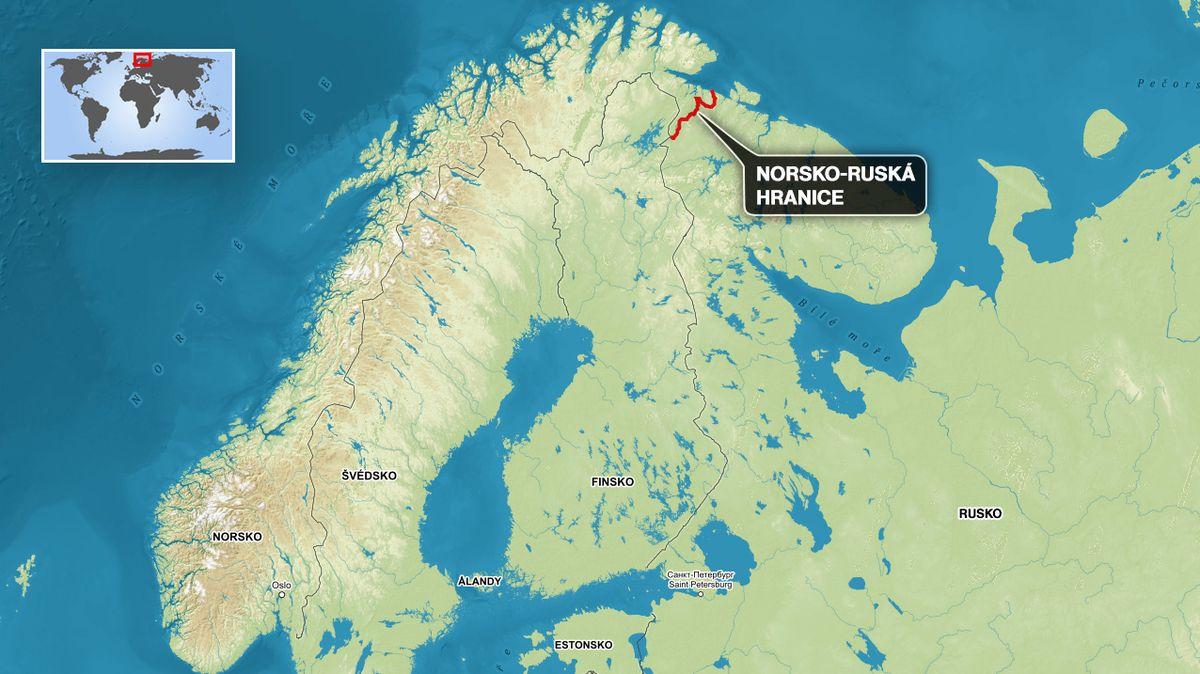 Nečůrejte směrem do Ruska, vyzývá tabulka na norské hranici